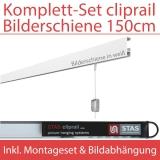 STAS Cliprail   150 cm   Komplett-Set